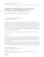 Applied biochemistry and biotechnology mélody dutot, roxane fagon, marc hemon, patrice rat    antioxidant, anti inflammatory, and anti senesce