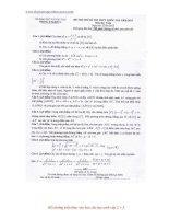 Đề thi thử kỳ thi trung học phổ thông quốc gia môn toán  có đáp án