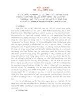 """sách lược ngoại giao của chủ tịch hồ chí minh trong cuộc đấu tranh bảo vệ độc lập dân tộc năm đầu sau cách mạng tháng tám (1945 1946)  và những bài học kinh nghiệm cho hiện nay"""""""