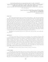 KHẢ NĂNG điền đầy KHUÔN và mức độ CHÁY DÍNH cát KHI đúc hợp KIM a356 THEO CÔNG NGHỆ mẫu hóa KHÍ MOLD FILLING AND PENETRATION IN LOST FOAM CASTING (LFC) PROCESS OF a356 ALLOY