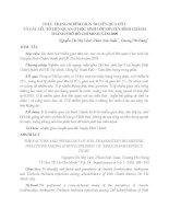 THỰC TRẠNG NHIỄM GIUN TRUYỀN QUA ĐẤT VÀ CÁC YẾU TỐ LIÊN QUAN Ở HỌC SINH LỚP 5 HUYỆN BÌNH CHÁNH THÀNH PHỐ HỒ CHÍ MINH NĂM 2009