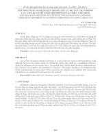 PHƯƠNG PHÁP NGHIỆM kép TRONG tối ưu bộ tắt CHẤN ĐỘNG lực CON QUAY để GIẢM DAO ĐỘNG của CABIN cáp TREO