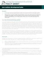 Fact Sheet: low carbon development plan