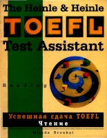 Emailing TOEFL test assistant reading