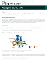 Fact Sheet: reusing and recycling water