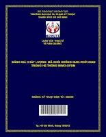 Đánh giá chất lượng mã khối không gian   thời gian trong hệ thống MIMO OFDM