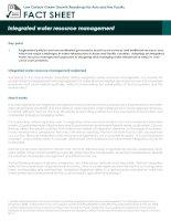 Fact Sheet: integrated water resource management