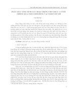 PHÁT HUY TÍNH TÍCH CỰC HOẠT ĐỘNG CHO TRẺ 5 - 6 TUỔI THÔNG QUA TRÒ CHƠI ĐÓNG VAI THEO CHỦ ĐỀ