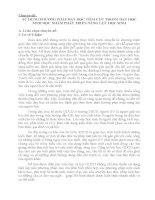 SỬ DỤNG PHƯƠNG PHÁP DẠY HỌC TÍCH CỰC TRONG DẠY HỌC SINH HỌC NHẰM PHÁT TRIỂN NĂNG LỰC HỌC SINH