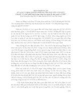 """BÀI THAM LUẬN của PCT UBND THÀNH PHỐ hà nội NGUYỄN văn sửu chủ đề """"cơ chế phối hợp trong công tác quản lý nhà nước về FDI"""""""
