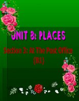 Unit 8  Places B1 (tiếng anh 7)