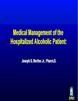 Medical management of the hospitalized alcoholic patient