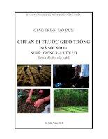 Giáo trình chuẩn bị trước gieo trồng   mđ01  trồng rau hữu cơ