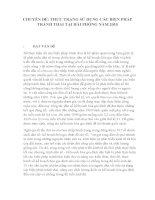 THỰC TRẠNG sử DỤNG các BIỆN PHÁP     TRÁNH THAI tại hải PHÒNG năm 2015