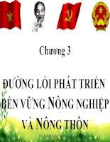 Bài giảng đường lối cách mạng đảng cộng sản việt nam   chuyên đề 3 đường lối phát triển bền vững nông nghiệp và nông thôn
