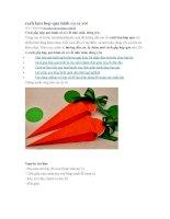 Cách làm hộp quà hình củ cà rốt