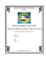 Báo cáo quản lý sinh viên làm đồ án access