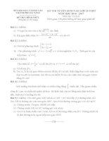 Đề thi tuyển sinh lớp 10 môn toán đà nẵng năm học 2016   2017(có đáp án)