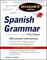 Schaums outline of spanish Grammar