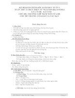 kế hoạch tuần chủ đề cô giáo và các bạn