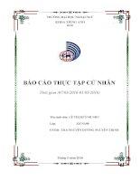 Báo cáo thực tập tốt nghiệp cử nhân khoa Tiếng Anh trường đại học ngoại ngữ Đà nẵng