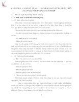THỰC TRẠNG HIỆU QUẢ SỬ DỤNG TÀI SẢN NGẮN HẠN CỦA CÔNG TY CỔ PHẦN VANG THĂNG LONG