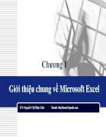 chuong 1   gioi thieu chung ve microsoft excel