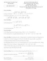 Đề thi tuyển sinh lớp 10 môn toán chuyên nguyễn trãi hải dương năm học 2016   2017(có đáp án)
