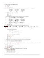 Đề thi lý thuyết và đáp án môn câu trúc dữ liệu