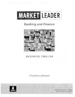 Market leader banking and finance business english