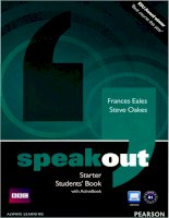 Speakout starter students book