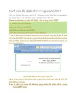 Cách sửa lỗi dính chữ trong Word 2007
