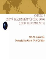 CSR và trách nhiệm với cộng đồng CSR in the community