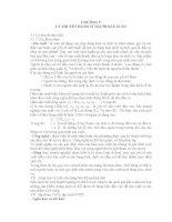 CHƯƠNG V: LÝ THUYẾT HÀNH VI NGƯỜI SẢN XUẤT VÀ CẤU TRÚC THỊ TRƯỜNG