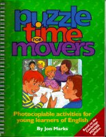 Puzzle time for movers photocopiable activities for young learners of english