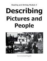 Reading and writing module 2 describing pictures and people ( Kỹ năng miêu tả người và tranh trong tiếng anh )
