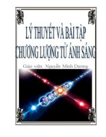 lý thuyết và bài tập chương lượng tử ánh sáng_Nguyễn Minh Dương