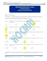 Tỉ số thể tích và các công thức tính nhanh thể tích 5s luyện thi ĐHQGHN