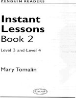 Instant Lessons Book ( level 3 and level 4 )