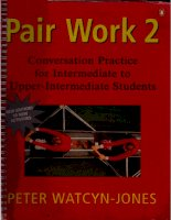 Pair work 2 conversation practice for Intermediate to UpperIntermediate Students