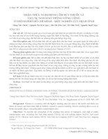 NHẬN THỨC NGHỊ ĐỊNH cấm hút THUỐC lá tại các nơi GIAO THÔNG CÔNG CỘNG ở THÀNH PHỐ hồ CHÍ MINH – một NGHIÊN cứu ĐỊNH TÍNH