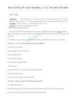 Đề cương sinh học 12 (chương 1,2,3)