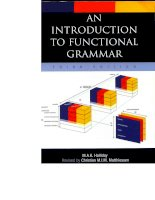 An introduction to functional grammar ( Sách ngữ pháp tiếng anh hay )