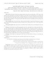 HÁI độ, KIẾN THỨC và THỰC HÀNH đối với LỆNH cấm hút THUỐC lá nơi CÔNG CỘNG tại điểm GIAO THÔNG CÔNG CỘNG ở THÀNH PHỐ hồ CHÍ MINH