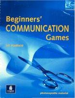 Beginners communication games