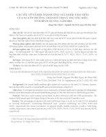 CÁC yếu tố xã hội ẢNH HƯỞNG sức KHỎE tâm THẦN của NGƯỜI TRƯỞNG THÀNH ở THỊ xã THỦ dầu một, TỈNH BÌNH DƯƠNG năm 2011