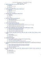 60 câu hỏi (có đáp án) thi nghề môn tin học