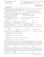 Bộ đề thi thử THPT Quốc gia năm 2016 môn Sinh học - Số 2
