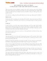 Quy định các mức xử phạt vi phạm quy chế thi THPT Quốc gia 2016