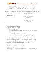 Đề thi tuyển sinh vào lớp 10 môn Tiếng Anh (Chuyên) năm học 2016-2017 trường THPT Chuyên Lê Hồng Phong, Nam Định